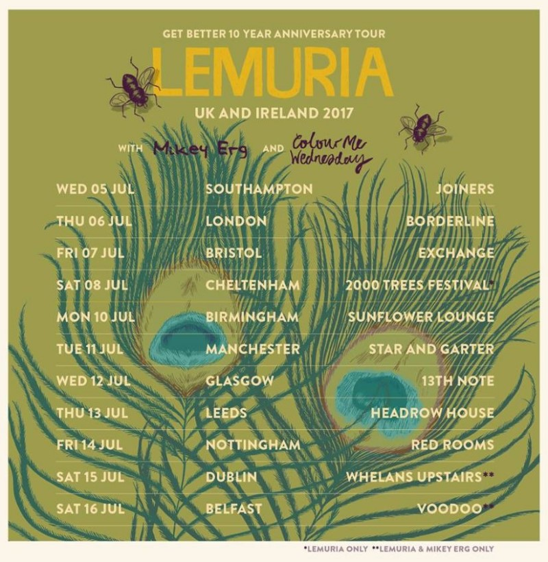 Lemuria UK 2017 tour dates